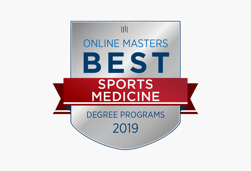 Online Masters Best Sports Medicine Program badge.