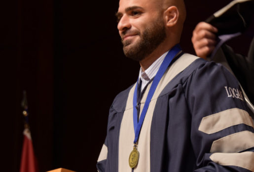 Student at graduation.