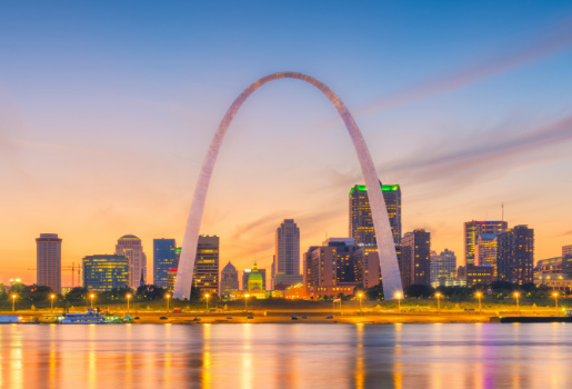 Gateway Arch and city background
