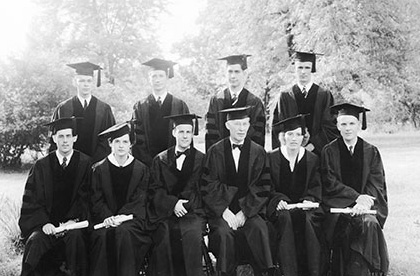 Photo of the first Logan graduates.