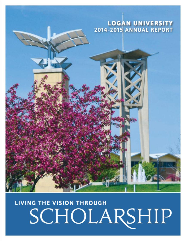 2015 Logan Annual Report cover.