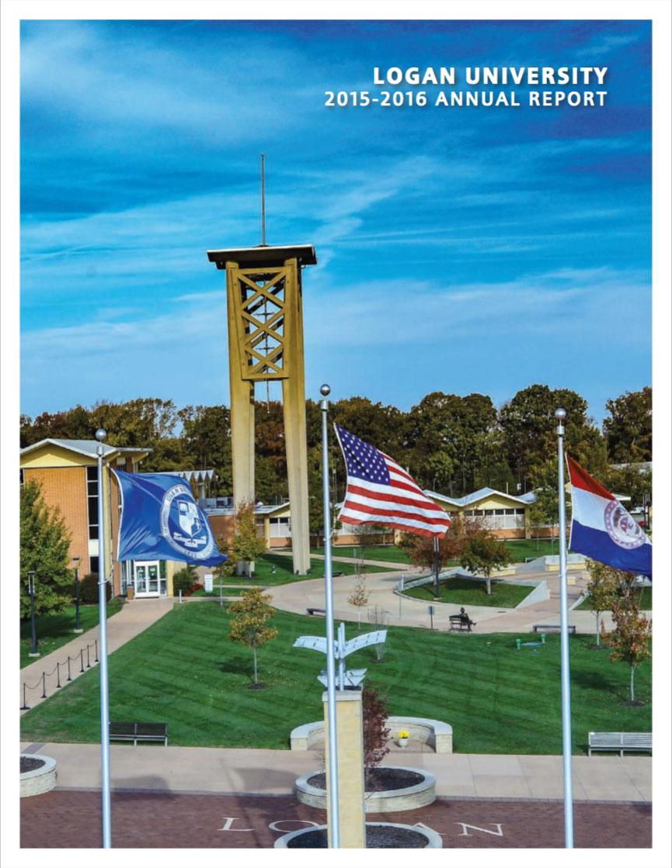 2016 Logan Annual Report cover.