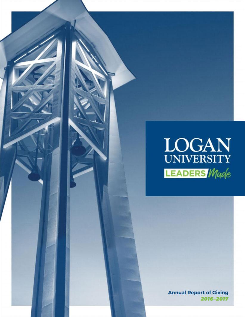 2017 Logan Annual Report cover.