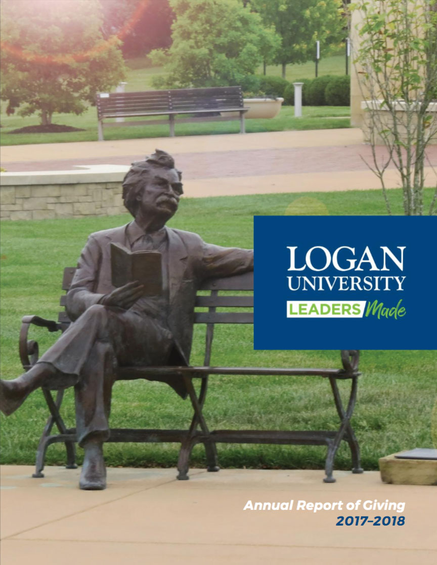 2018 Logan Annual Report cover.