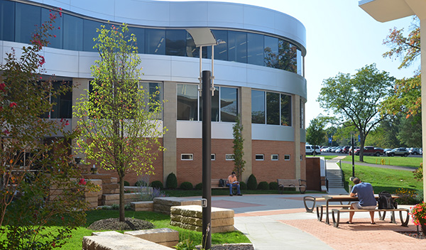 Photo of the Educational Wing on campus.