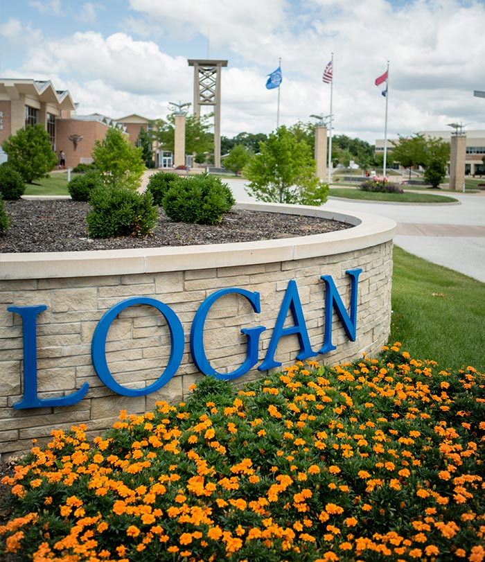 Logan sign on campus.