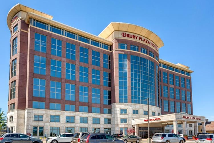 Drury hotel building.