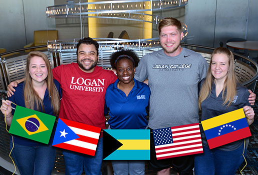 Group of international students at Logan.