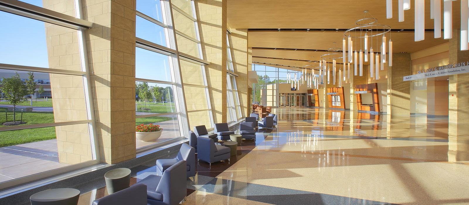 Purser Center lobby.