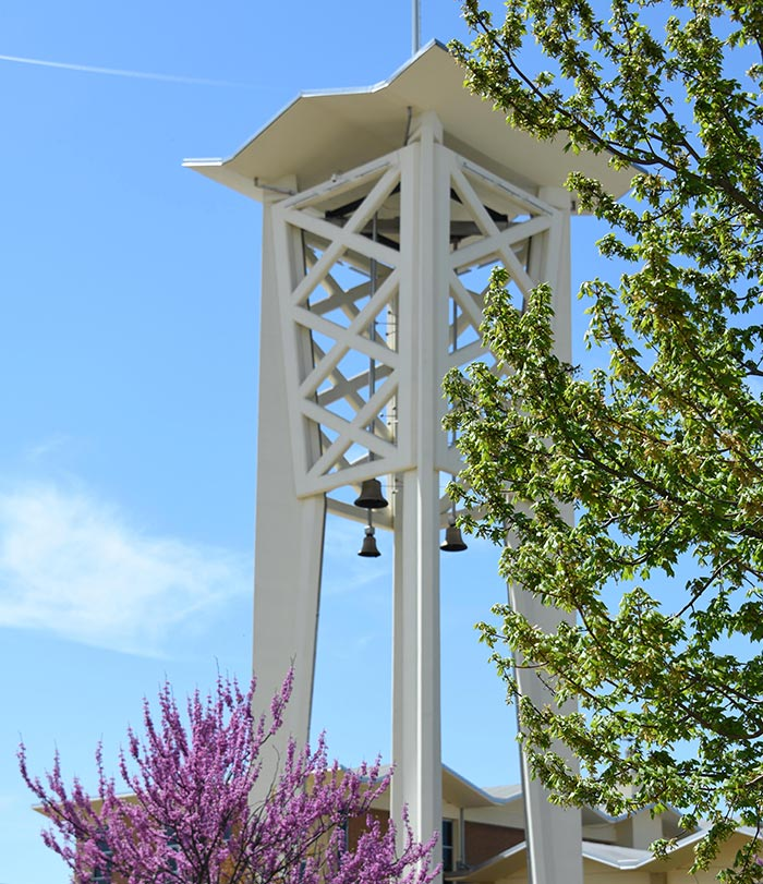 Logan Tower on campus.