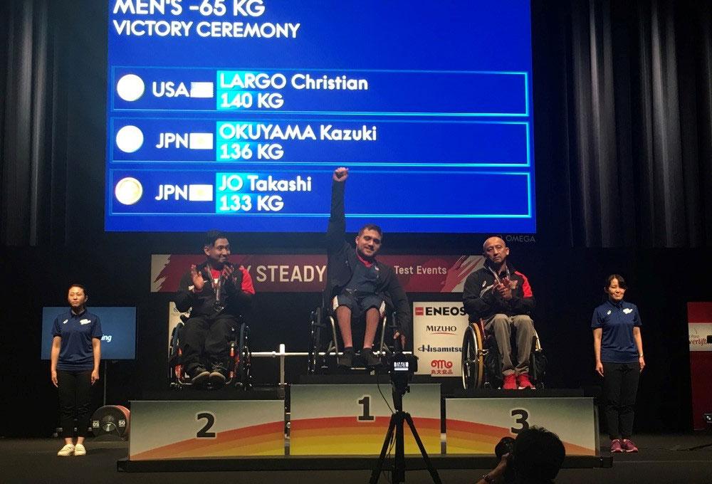 USAPP athlete celebrating gold medal win.