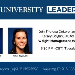 Theresa DeLorenzo, DCN, RD and Kelsey Boylan, DC