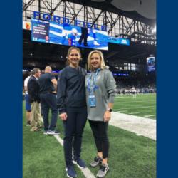 Chicago Bears Team Chiropractor Dr. Emma Minx and Detroit Lions Team Chiropractor Dr. Karen Slota