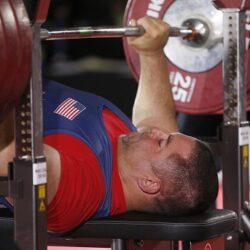 USAPP team member Jake Schrom lifts