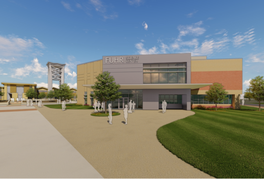Rendering of the renovated Fuhr Science Center on Logan University's campus